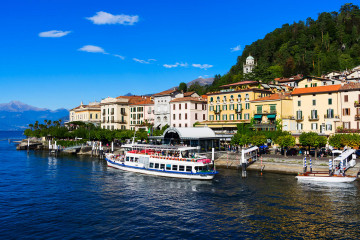 Holidays to Lake Como, staying at the Hotel Britannia Excelsior